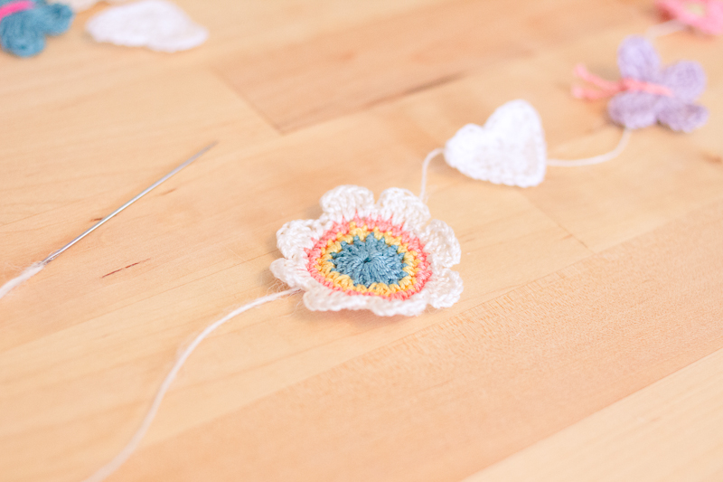 DIY crochet garland